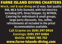 Farne Islands Diving Charters