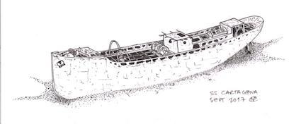 Cartagena Sketch - Nigel Cossons